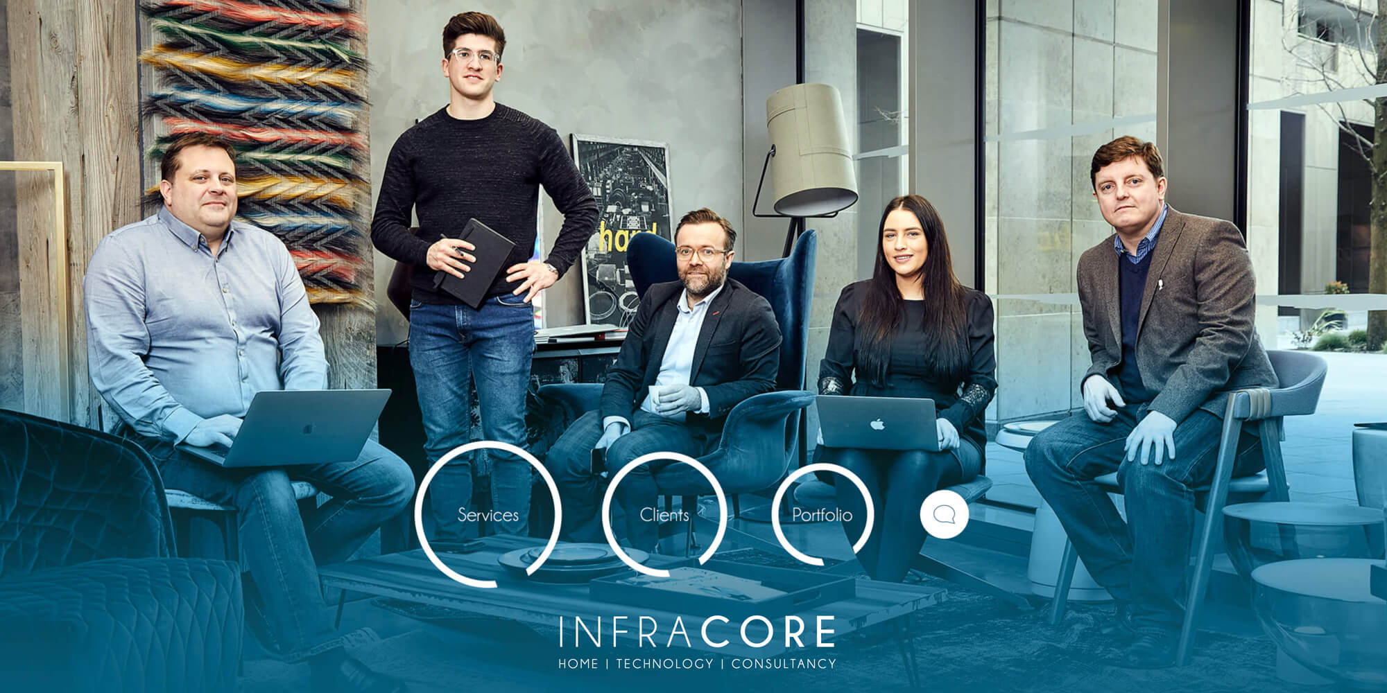 infracore HTC london website design