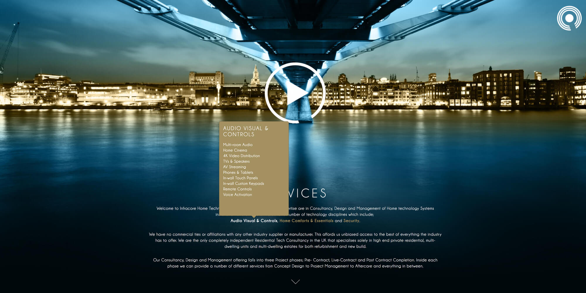infracore HTC website design london
