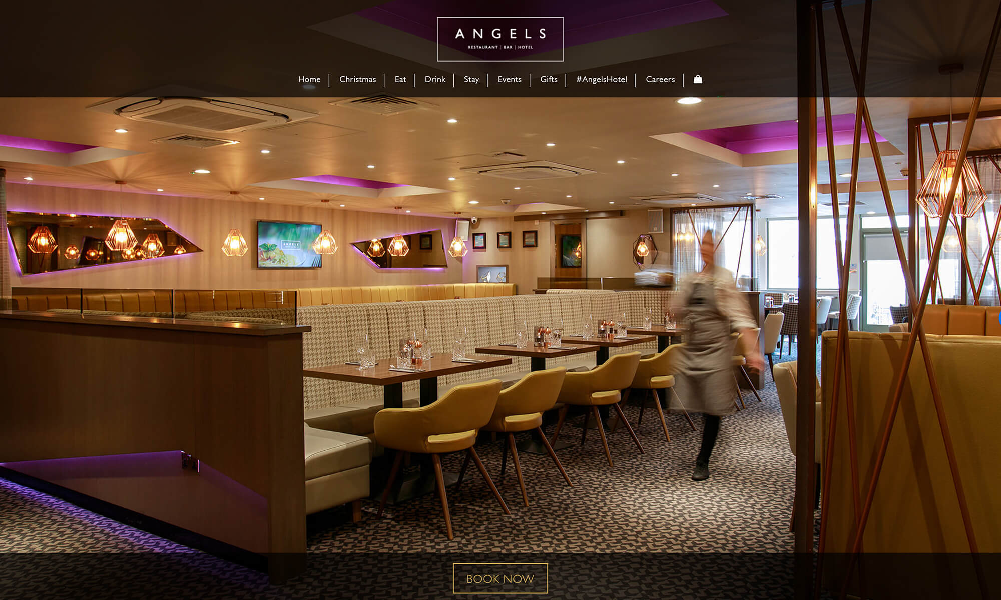 Angels Hotel Uddingston website design Boca