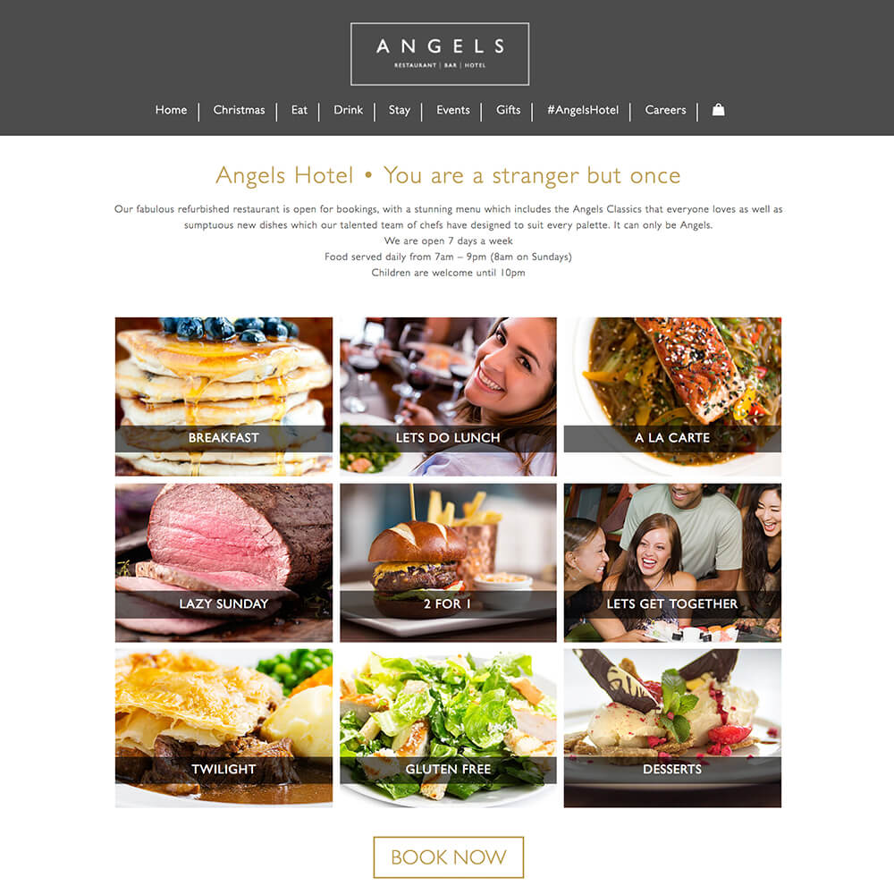 Angels Hotel Uddingston web design Boca