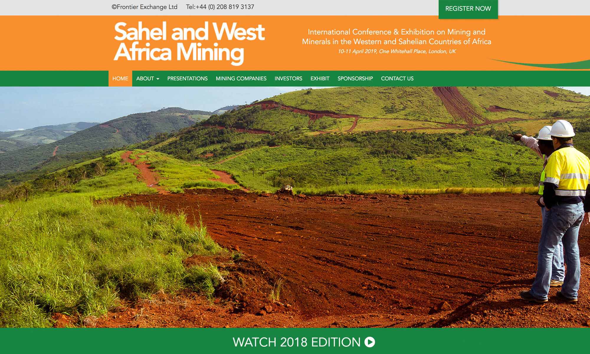 Sahel Mining Website Design Boca