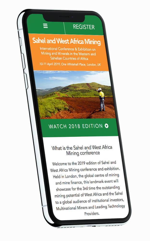 Sahel Mining Mobile Design Boca