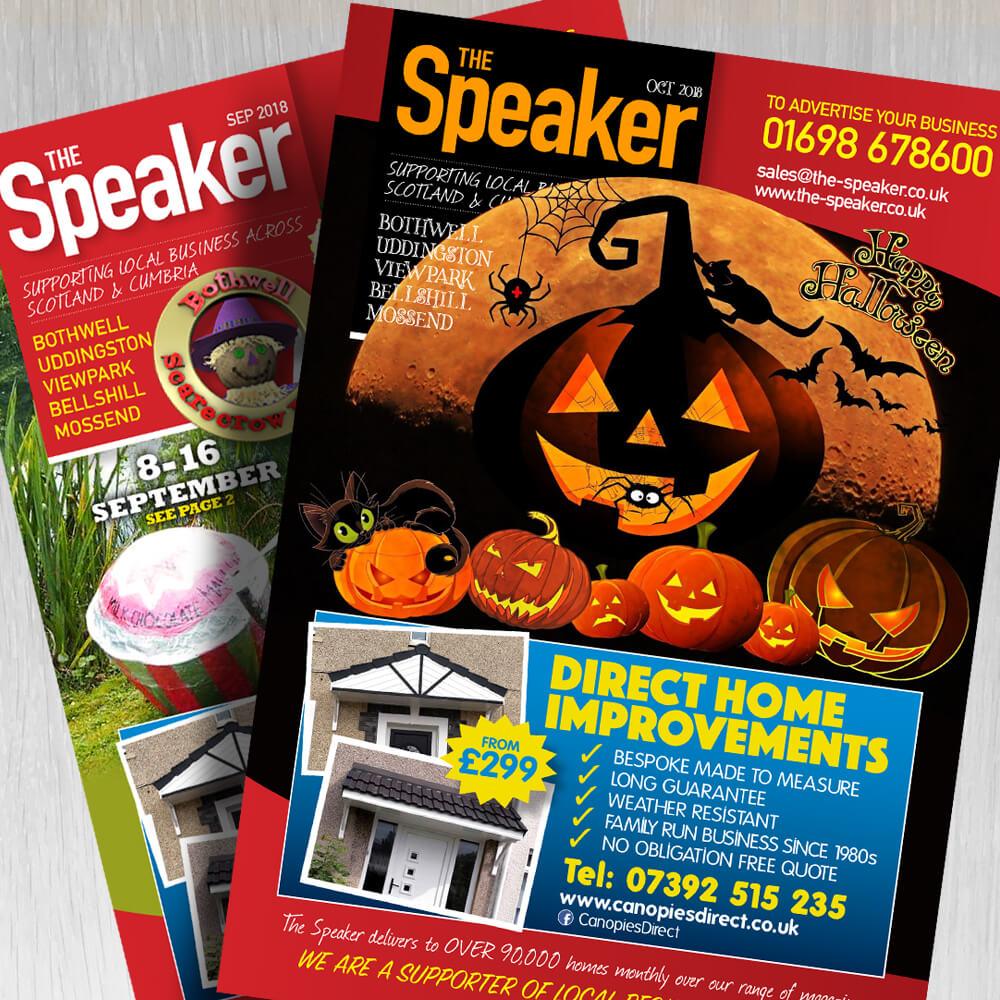 the speaker magazine design boca