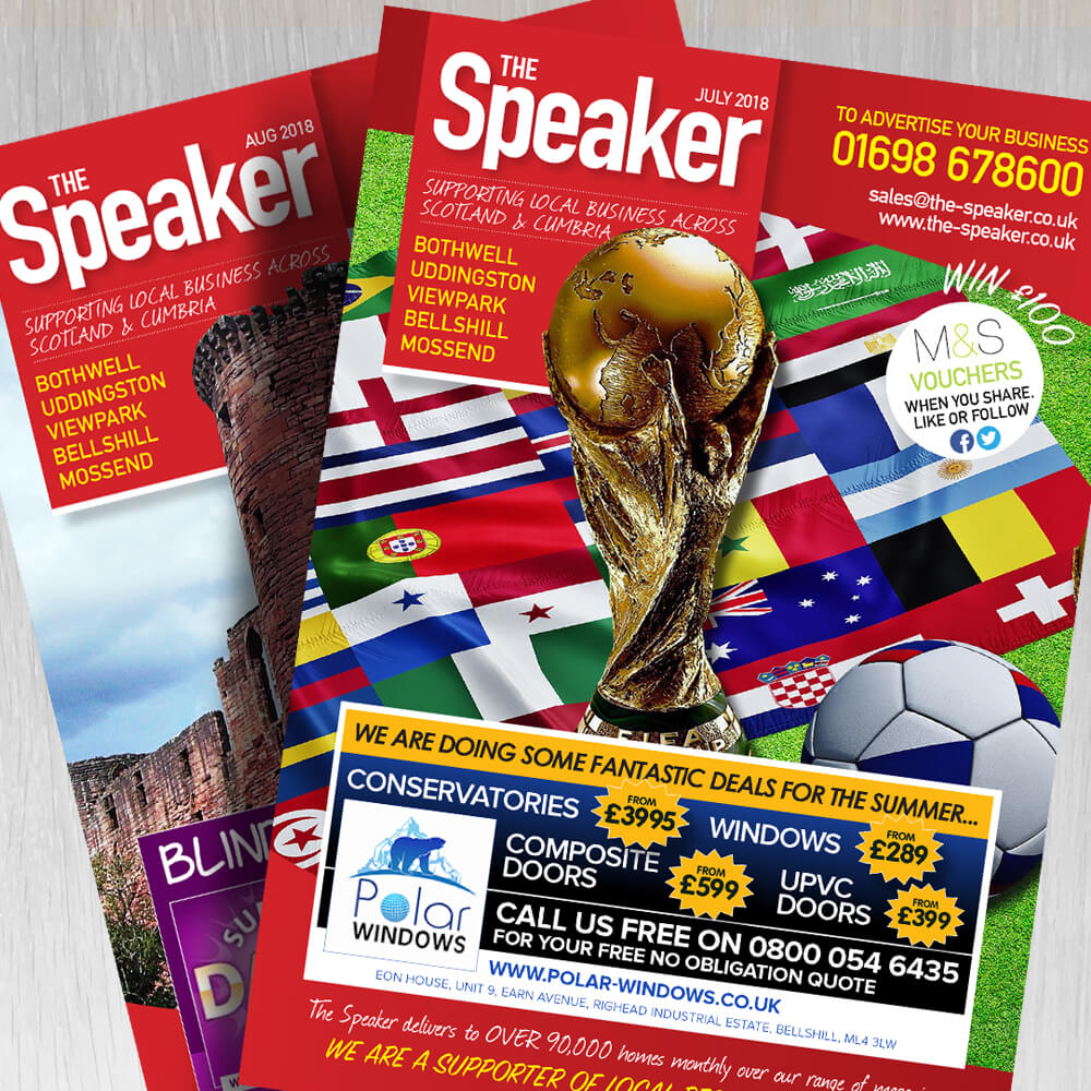 the speaker magazine design layout boca