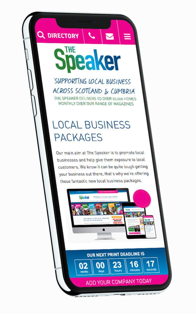 the speaker website design Boca