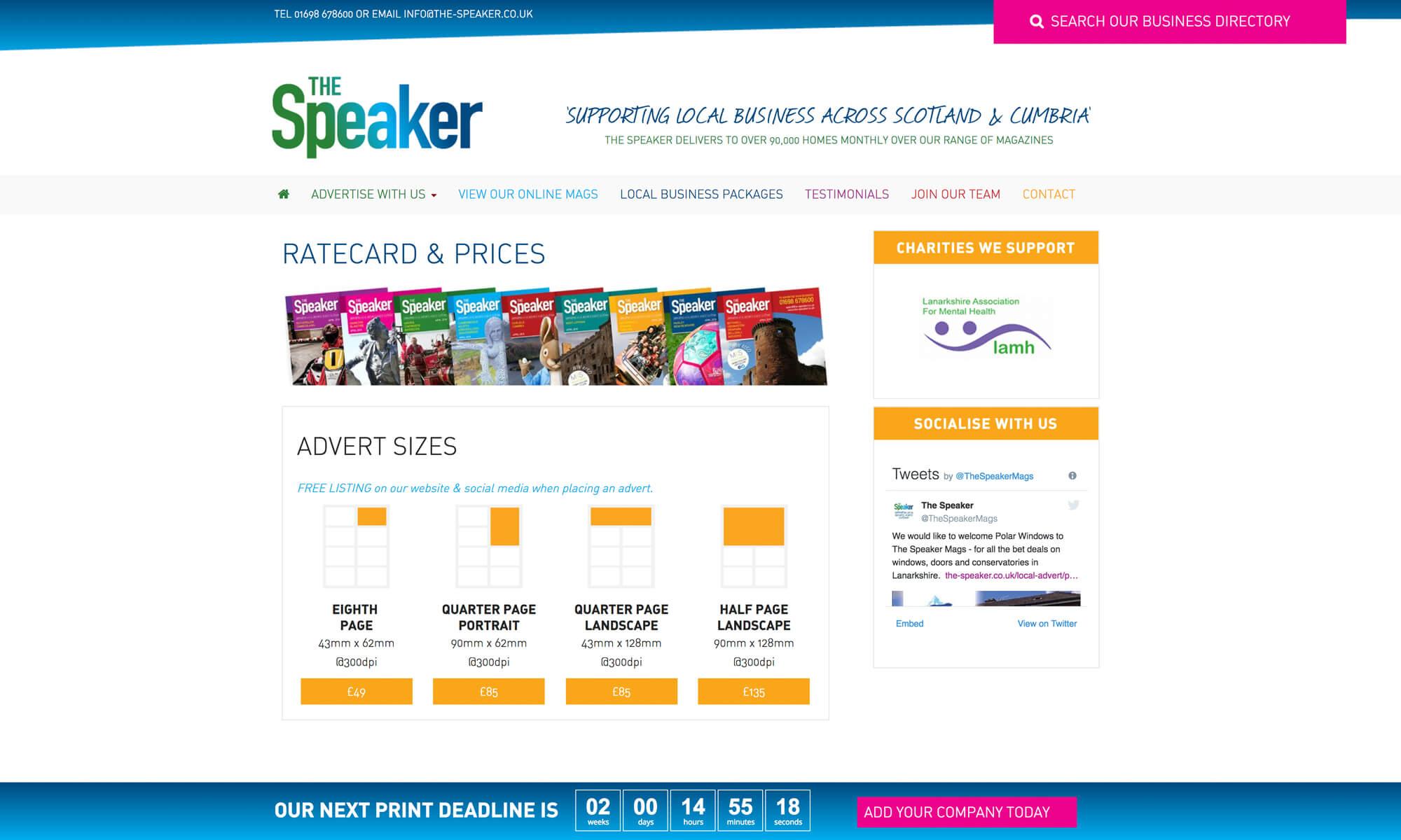 the speaker webdesign boca