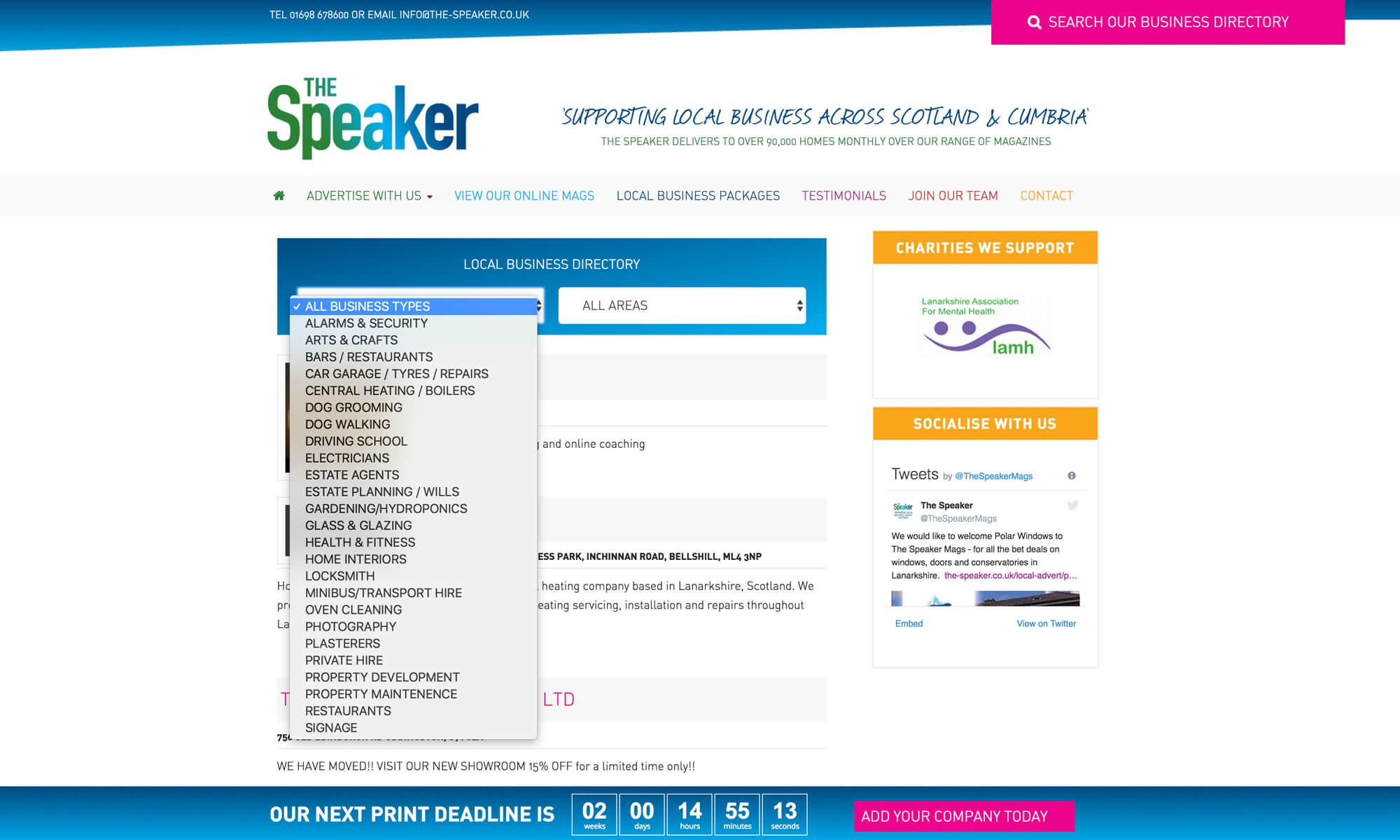 the speaker web design boca