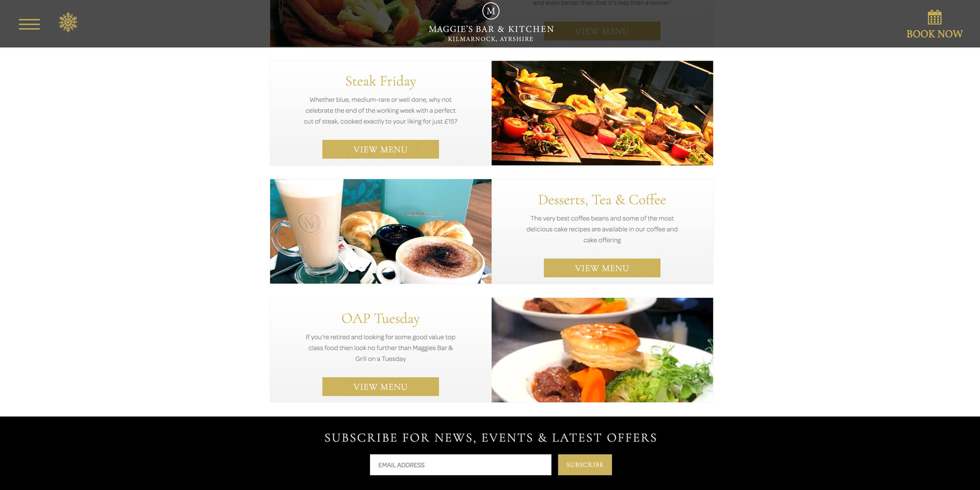 Maggies Bar Responsive Website Design Boca